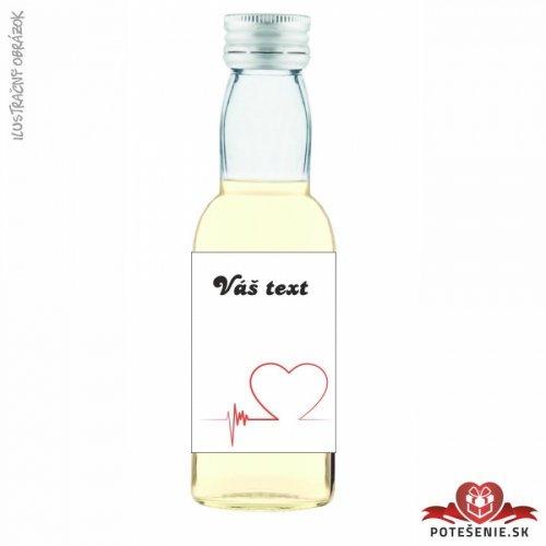 Svatební mini lahvička s alkoholem, motív S343 - Svatební lahvičky malé