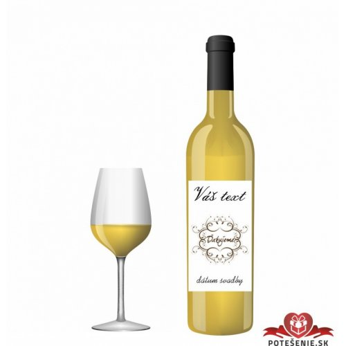 Svatební víno pro hosty, motív S010