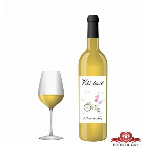 Svatební víno pro hosty, motív S012