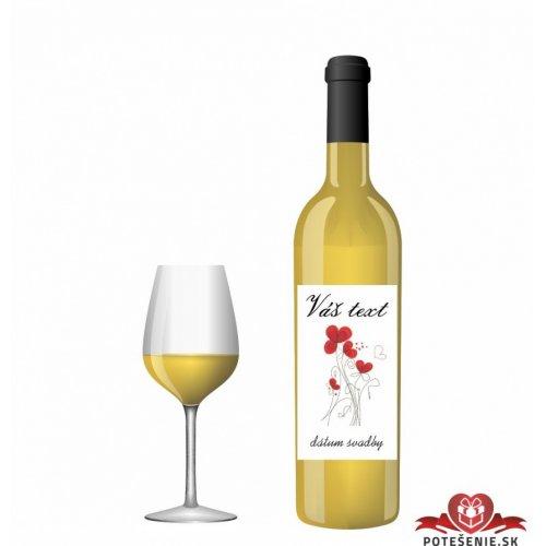 Svatební víno pro hosty, motív S014