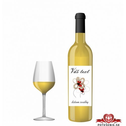 Svatební víno pro hosty, motív S015