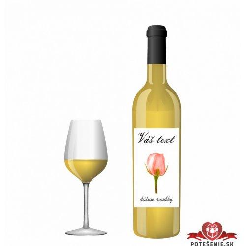 Svatební víno pro hosty, motív S016