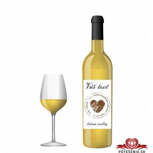 Svatební víno pro hosty, motív S018