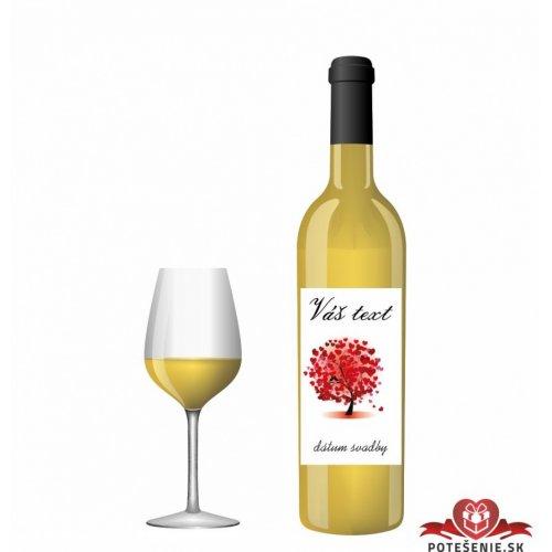 Svatební víno pro hosty, motív S019