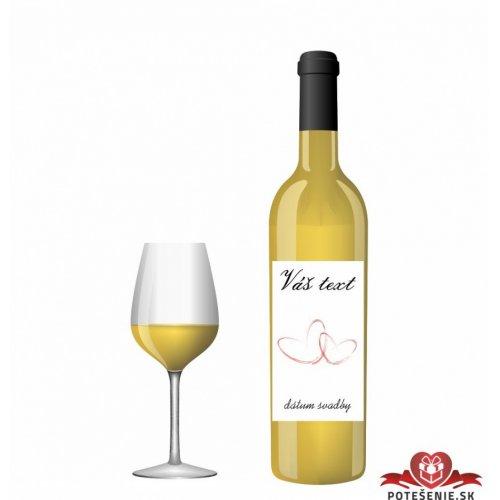 Svatební víno pro hosty, motív S021