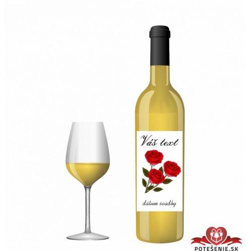 Svatební víno pro hosty, motív S022