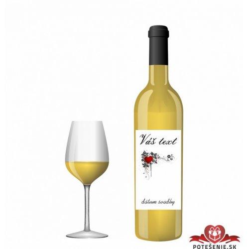 Svatební víno pro hosty, motív S023