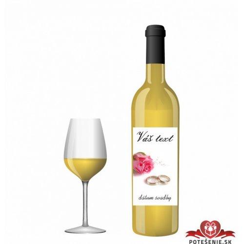 Svatební víno pro hosty, motív S024