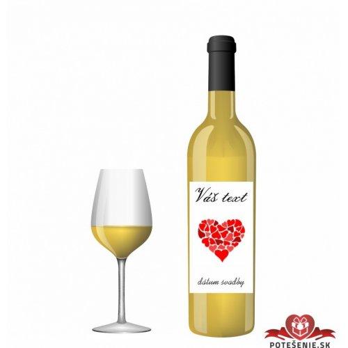Svatební víno pro hosty, motív S028