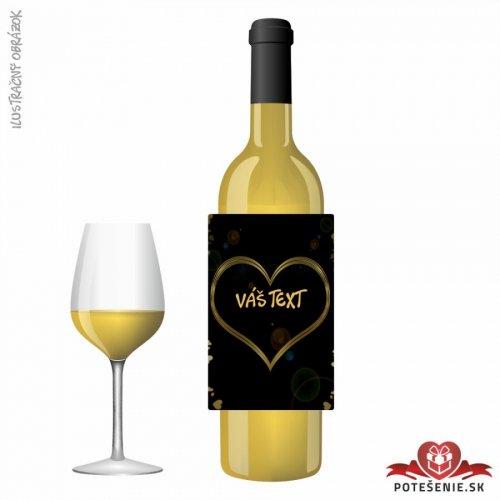 Svatební víno pro hosty, motív S458