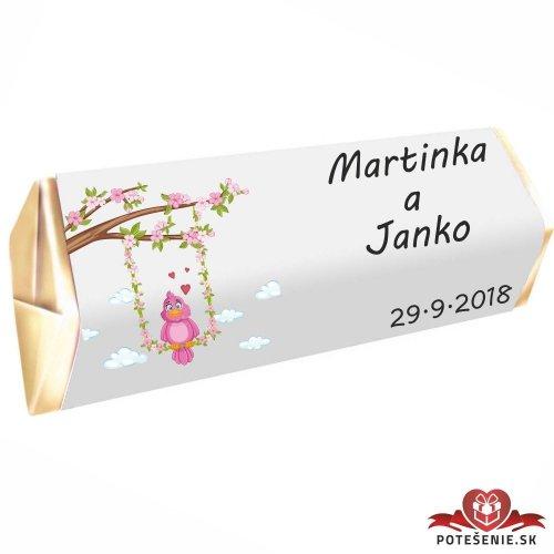 Svatební čokoládka Rumba pro hosty, motív S001 - Svatební Rumba
