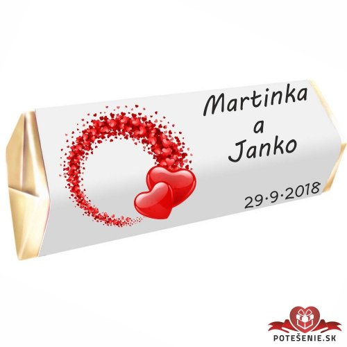 Svatební čokoládka Rumba pro hosty, motív S094