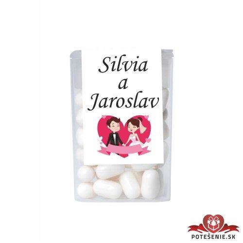 Dražé bonbóny pro svatební hosty, motív S018