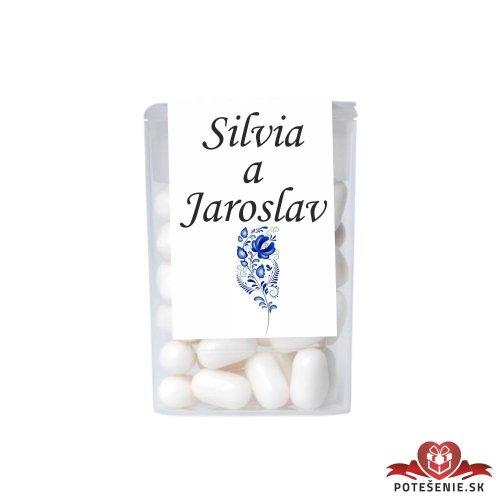 Dražé bonbóny pro svatební hosty, motív S022