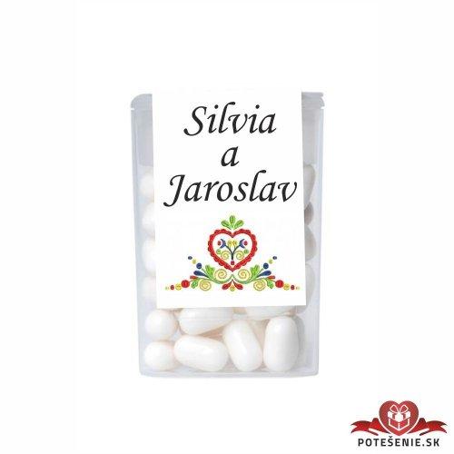 Dražé bonbóny pro svatební hosty, motív S025