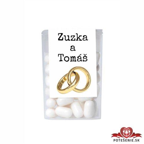 Dražé bonbóny pro svatební hosty, motív S052