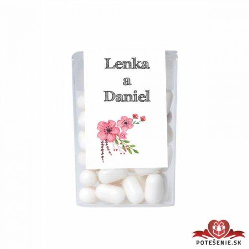Dražé bonbóny pro svatební hosty, motív S213