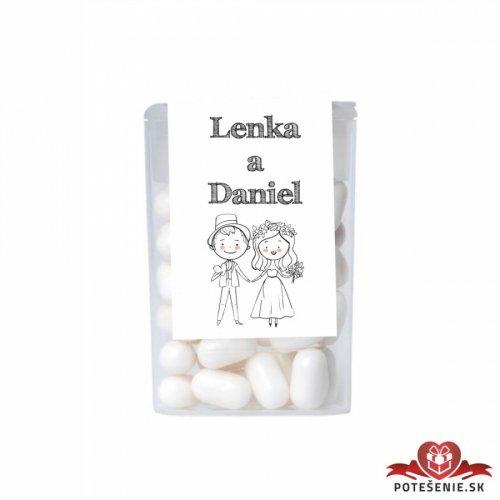 Dražé bonbóny pro svatební hosty, motív S220