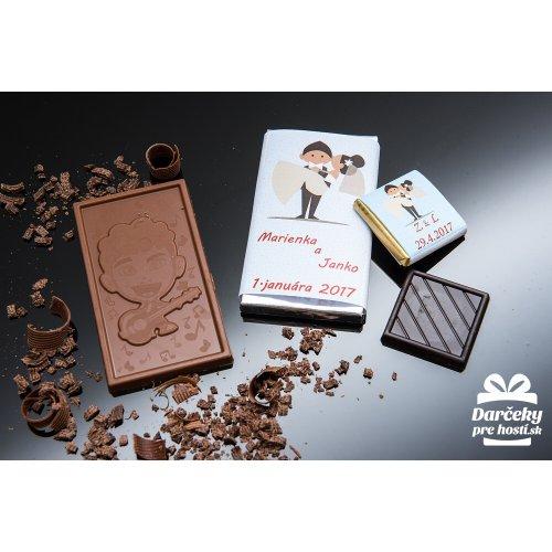 Svatební mini čokoládka, motív S007