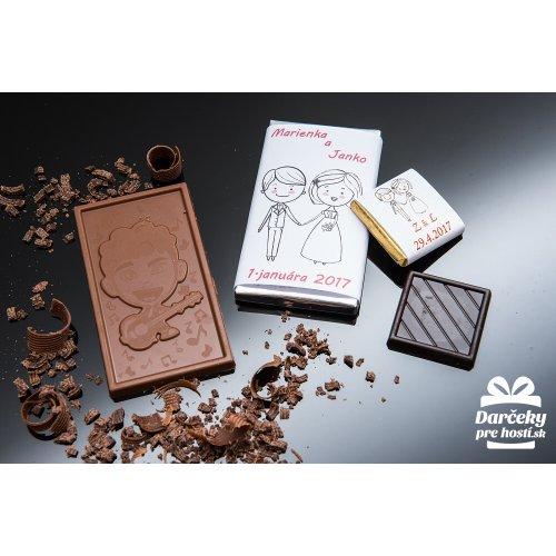 Svatební mini čokoládka, motív S012