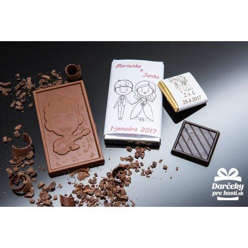 Svatební mini čokoládka, motív S013
