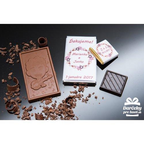 Svatební mini čokoládka, motív S019