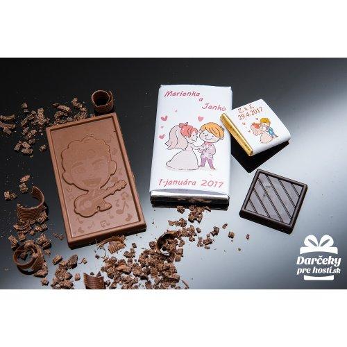 Svatební mini čokoládka, motív S021
