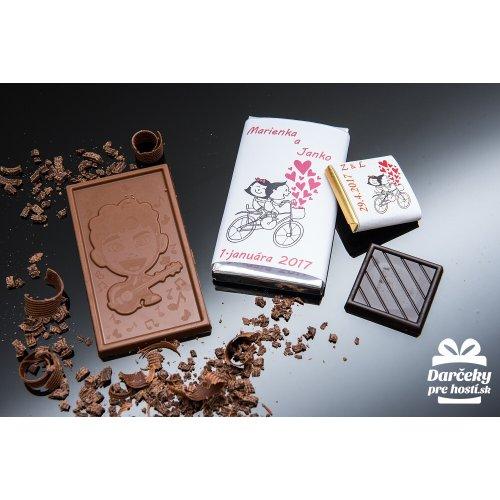 Svatební mini čokoládka, motív S026