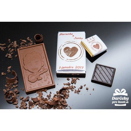 Svatební mini čokoládka, motív S082