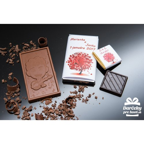 Svatební mini čokoládka, motív S083