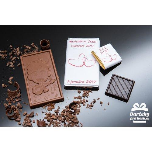 Svatební mini čokoládka, motív S085
