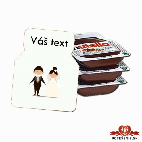 Svatební mini Nutella, motív S002