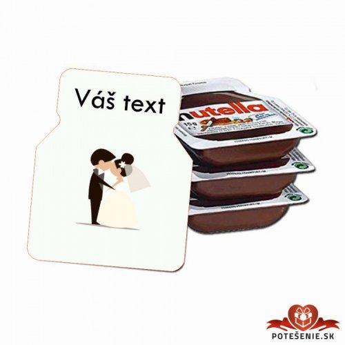 Svatební mini Nutella, motív S005