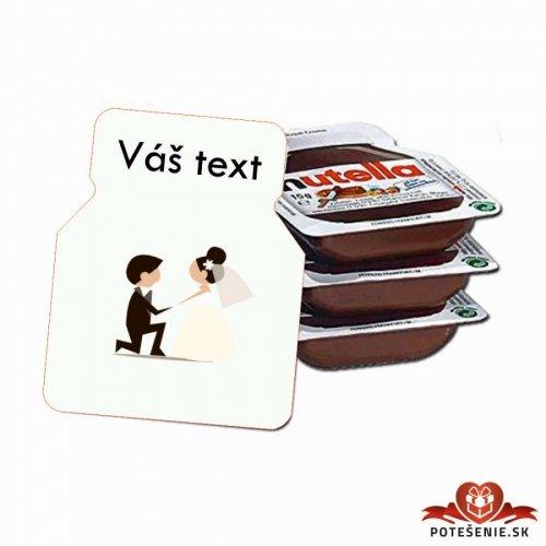 Svatební mini Nutella, motív S006