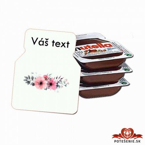 Svatební mini Nutella, motív S012