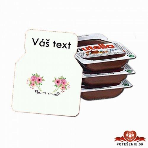 Svatební mini Nutella, motív S013