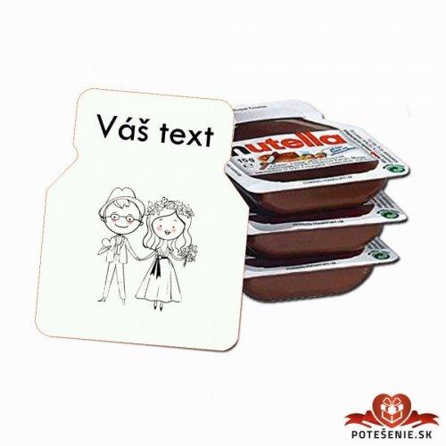 Svatební mini Nutella, motív S014