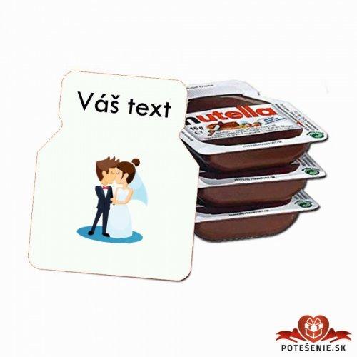 Svatební mini Nutella, motív S020