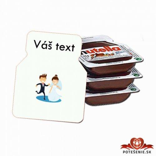 Svatební mini Nutella, motív S022