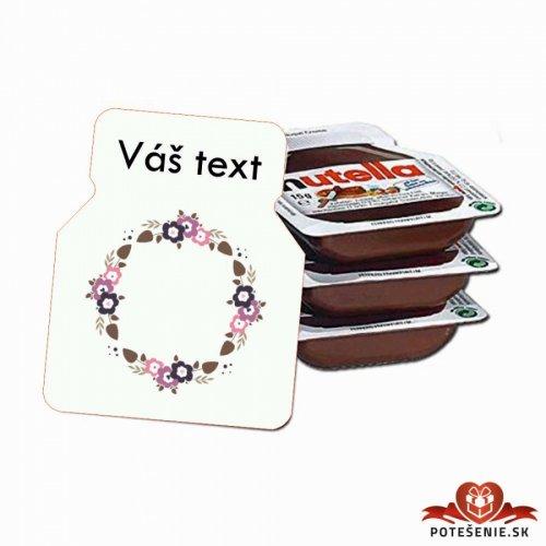 Svatební mini Nutella, motív S023