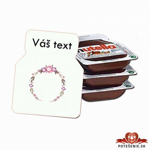 Svatební mini Nutella, motív S024