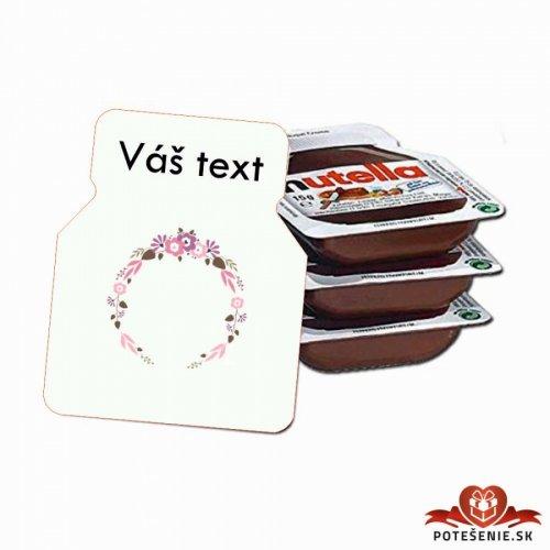 Svatební mini Nutella, motív S025