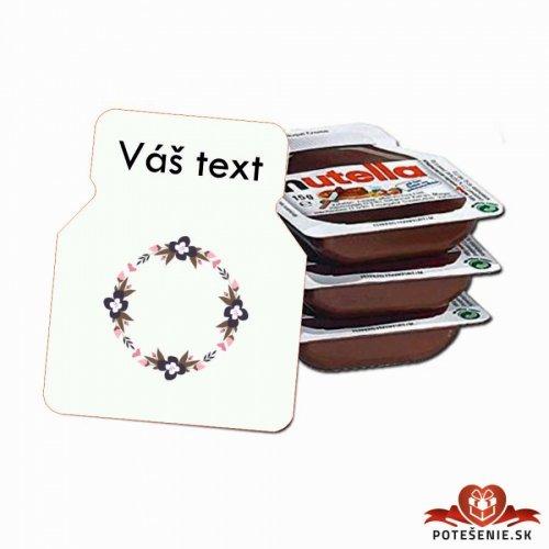 Svatební mini Nutella, motív S026