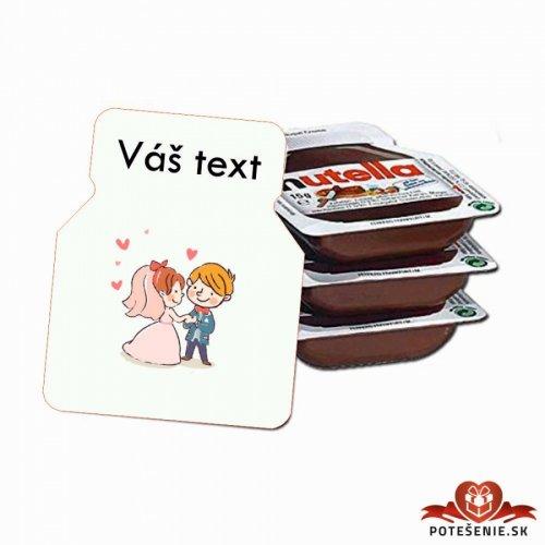 Svatební mini Nutella, motív S028