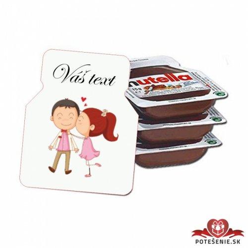 Svatební mini Nutella, motív S191