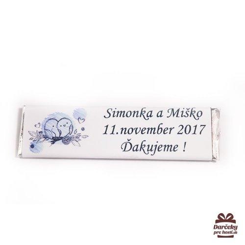 Svatební žvýkačky pro hosty, motív S001 - Svatební žvýkačky