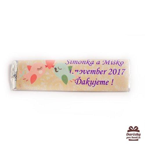 Svatební žvýkačky pro hosty, motív S002