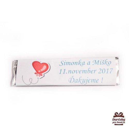 Svatební žvýkačky pro hosty, motív S004