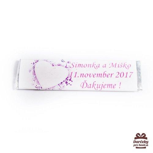 Svatební žvýkačky pro hosty, motív S005