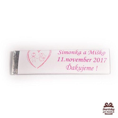 Svatební žvýkačky pro hosty, motív S018